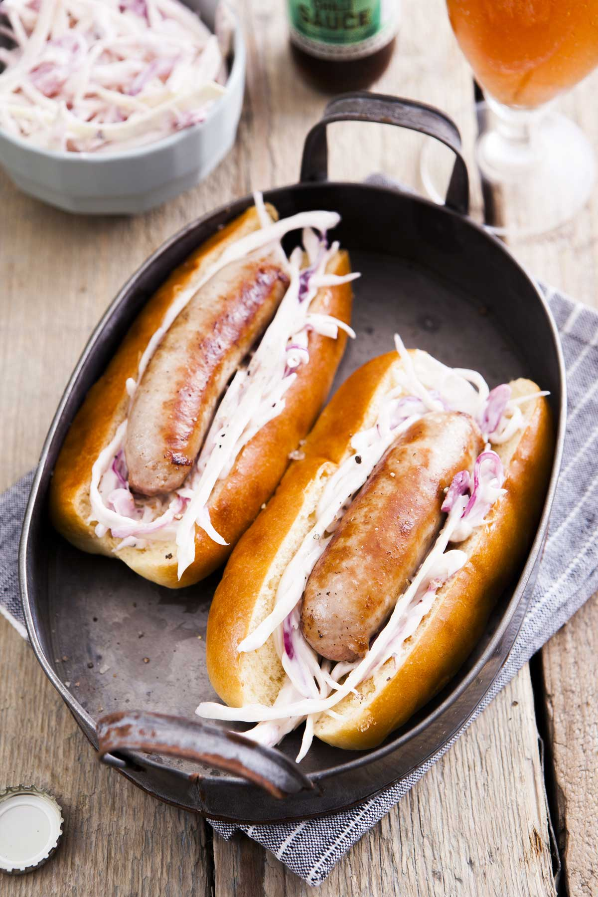 HOT DOGS & COLESLAW